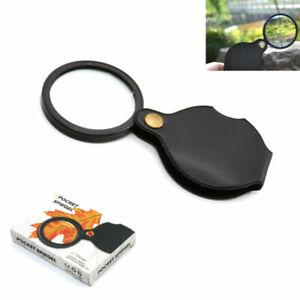 Pocket Folding Magnifier Glass Mini Small Size Optical Magnifying Lens Eye Loupe