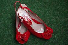 Dorndorf Sommer Leder Sandalen Rot Pumps Schuhe Sandaletten Business Slingbacks