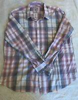 Article 365 XXL Broken In Mens Plaid Beautiful Button Shirt Cotton Long Sleeve