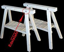 Stützböcke mit Ablage,2 neue Arbeitsböcke, Holzbock,Schreinerbock,Montagebock,