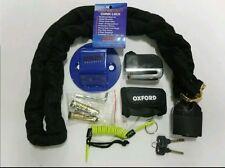 CHAIN LOCK MOTORBIKE GRID 180cm+GRID ANCHOR+OXFORD SCREAMER ALARM DISK LOCK+DLR