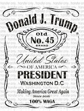 President Trump 2020 Waterslide Decals for Tumblers & Furniture - Permanent