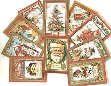 """Christmas Paper And Cards,  10 Stamperia Double Sided Christmas Cards, 4.5x6.5"""""""