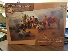 Master Pieces Chuck wagon Serenade 1000 Piece Jumbo Jigsaw Puzzle