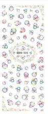 Nail Art Water Decals Stickers Water Rainbow Bubbles Spots Gel Polish (DS225)