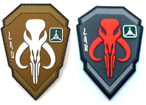 Mandalorian Boba Fett Style PVC Patch Hook and Loop, Airsoft, Cosplay