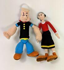 Vintage Popeye & Olive Oil soft plush dolls