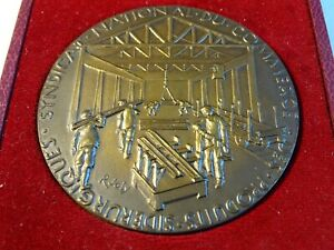 1970 Medal Bronze Syndicate National Of Commerce Of Products Steel-