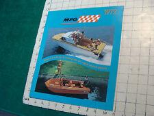 Vintage Clean Boat Catalog: Mfg fiber glass boats, 1972, 12pgs