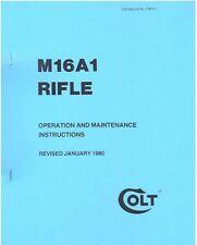 COLT M16A1 AR15 Rifle Operation & Maintenance Gun Manual - COLT M16A1 ARMORER