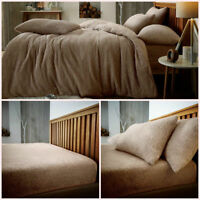 Luxurious Range Teddy Bear Duvet, Sheet & Pillows Double Soft like Lamb Wool