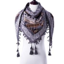 Women Fashion Tassel Printed Scarf Bohemian Style Winter Autumn Square Shawl