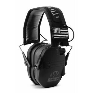 Walkers Razor Slim Shooter Electronic Ear Protection Muffs, Black Patriot