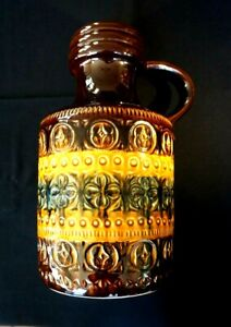 Beautiful Vintage West German Large Fat Lava Jug Vase