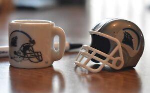 Carolina Panthers mini helmet coffee mug Cam Newton Christian McCaffery DJ Moore