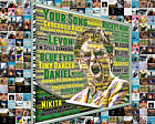 Elton John WordArt and Album Cover Song Title Mosaic Print Art