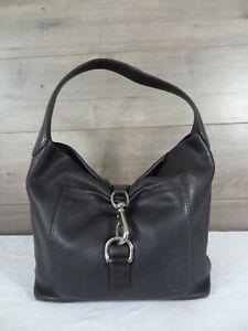 Dooney & Bourke Dark Brown Leather Shoulder Bag Purse