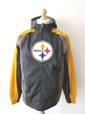 Official NFL Team Apparel Pittsburg Steelers Hooded Fleece Lined Jacket Size M