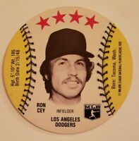 Ron Cey Dodgers 1976 MSA Disc Isaly's Sweet William Family Restaurants Disc #13