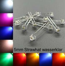 5mm LEDs Strawhat wasserklar alle Farben inkl. Widerstände Leuchtdioden LED