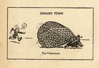 VINTAGE Football Print GRIMSBY TOWN - THE FISHERMEN Funny Cartoon