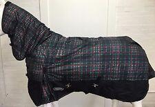 AXIOM 1800D BALLISTIC WATERPROOF GREEN/BLACK CHECK 220g HORSE COMBO RUG - 5' 0
