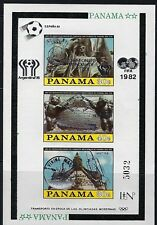 PANAMA 1976 BOLIVAR OVERPRINTED WITH SOCCER WORLD CUP1982  SILVER COLOUR, MNH