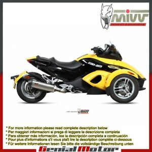 Mivv Exhaust Muffler Oval Titanium With Carbon Cap for Can Am Spyder 1000 2007