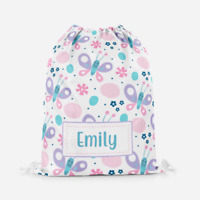 Personalised Cartoon Butterfly Children's PE Swimming School Kids Drawstring Bag
