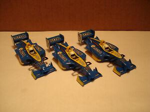 3 TOMY AFX H.O. SCALE SLOT CAR BODIES F1 #16 50A CORE FITS 1.7 MEGA G +