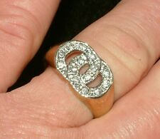 9 CARAT GOLD DAZZLING CZ SIGNET RING CC  RING 375, 9CT, 9CARAT, GOLD RING