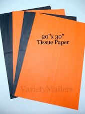 "50 Large 20""x 30"" Sheets of Orange & Black Tissue Paper"