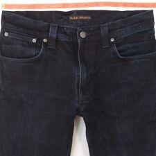 Mens Nudie THIN FINN Stretch Slim Straight Blue Jeans W32 L34