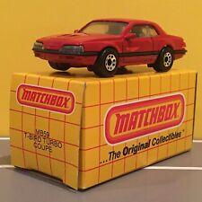 Matchbox - FORD T-BIRD TURBO COUPE (red) - #59 - 1983 - Macau - Yellow Box