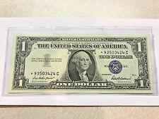 1957C  $1 SILVER CERTIFICATE Star Note Unc #1879