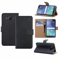 LUXURY REAL LEATHER WALLET STAND CASE CARD POCKET FOR SAMSUNG GALAXY J5 (2015)