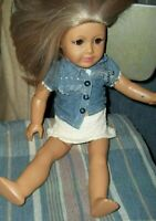 American Girl Doll.Preowned.Good Cond.Blonde hair/ink on face/Brown eyes