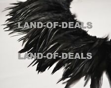 150+ Black rooster feathers strung suddles 5-7 in long bulk wholesale