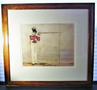 19th c British Painting Study Soldier w/ Musket