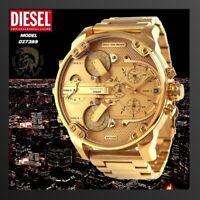 ⌚ New DIESEL Original DZ7399 Mr Daddy 2.0 Gold Stainless Steel Chrono Watch 57mm