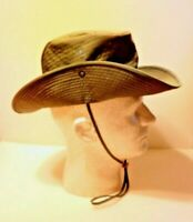 USAF SECURITY FORCE BUSH HAT VIETNAM WAR 1969 DATED, UNISSUED WITH MOSQUITO NET