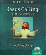 NEW Kids Hardcover +3 CDs! Jesus Calling Storybook Bible Deluxe Ed.- Sarah Young
