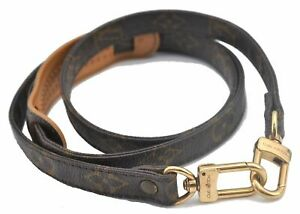 """Authentic Louis Vuitton Monogram Brown Shoulder Strap 46.9"""" LV E2057"""