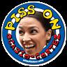 Piss on Alexandria Ocasio-Cortez Toilet Urinal Sticker by wizzstickers