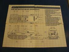 Polar Battle Bear  Vintage  Blueprints/Instructions GI JOE