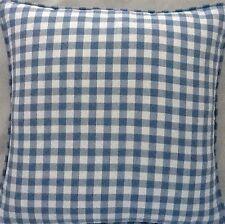 A 16 Inch Cushion Cover In Laura Ashley Gingham Blue Fabric