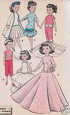 "8798 Vintage Slender Fashion Doll Pattern -Size 20""--Year 1958"
