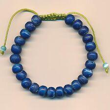 Bracelet de Coloris Bleu Nature Produit Travail Manuel Yakhorn Porte-Bonheur