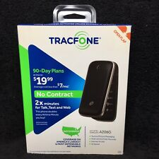 TRACFONE ALCATEL ONE TOUCH A206G FLIP PHONE - BLACK - NEW SEALED 90 Day Plan