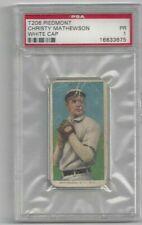 "CHRISTY MATHEWSON   1909-11 T206  PIEDMONT  ""white cap""   PSA 1  PR  HOF  GIANTS"